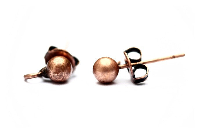 5 pairs Copper Earring Studs
