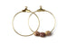 Kerrie Berrie Gold Plated Hoop Earrings Beading Hoops