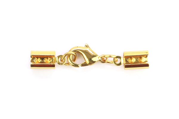 Kerrie Berrie Ending Gold Foldovers with Clasp for Jewellery Making