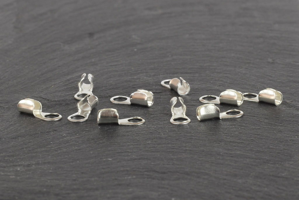 Kerrie Berrie Ending Silver Foldover Cord Ends for Jewellery Making