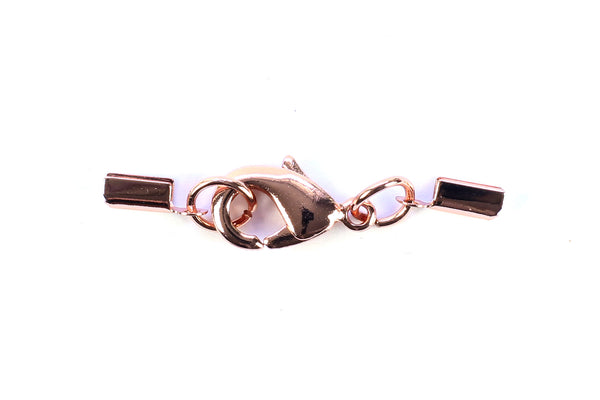 Kerrie Berrie Ending Rose Gold Foldovers with Clasp for Jewellery Making
