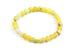 Kerrie Berrie Colourful Elasticated Genuine Real Agate Bracelet in Yellow