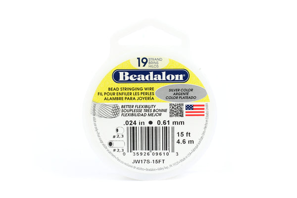 Beadalon 49 Strand Tigertail Beading Wire for Jewellery Making