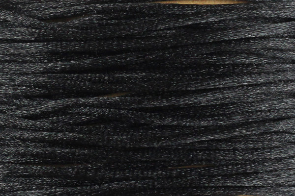 Black Silk Nylon Rattail Cord – 1mm (5m) for Jewellery Making