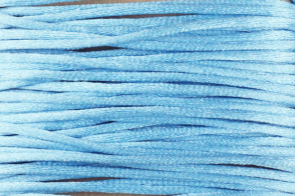 Sky Blue Silk Nylon Rattail Cord – 1mm (5m) for Jewellery Making