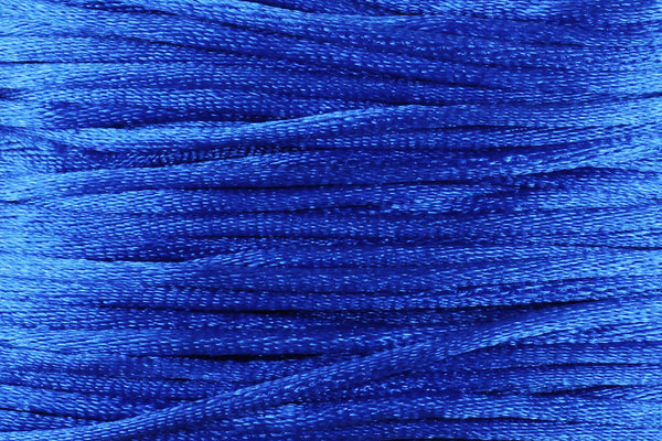 Bright Royal Blue Silk Nylon Rattail Cord – 1mm (5m) for Jewellery Making