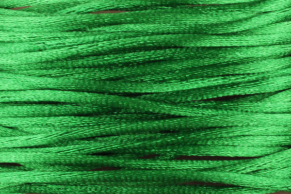 Bright Emerald Green Silk Nylon Rattail Cord – 1mm (5m) for Jewellery Making