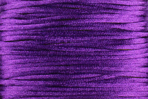 Purple Silk Nylon Rattail Cord – 1mm (5m) for Jewellery Making