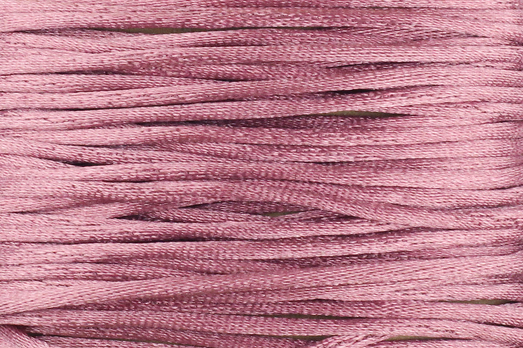 Dusky Rose Pink Silk Nylon Rattail Cord – 1mm (5m) for Jewellery Making
