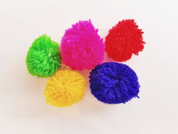 10 x Woolen Pom Poms - various colours