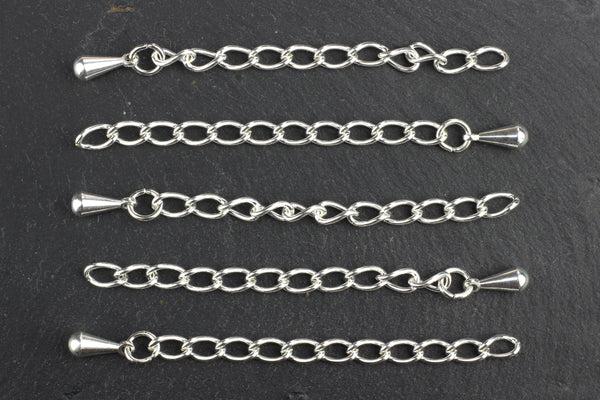 Kerrie Berrie Silver Necklace 2 inch Extension Chains
