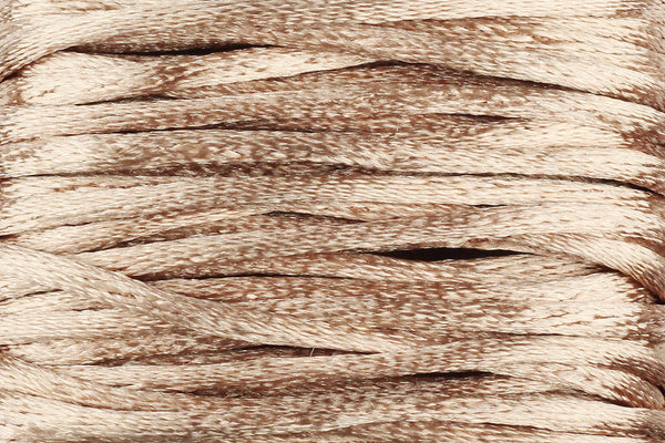 Champagne Silk Nylon Rattail Cord – 1.5mm (5m) for Jewellery Making