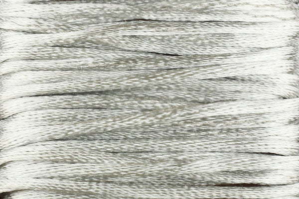 Silver Grey Silk Nylon Rattail Cord – 2mm (5m)
