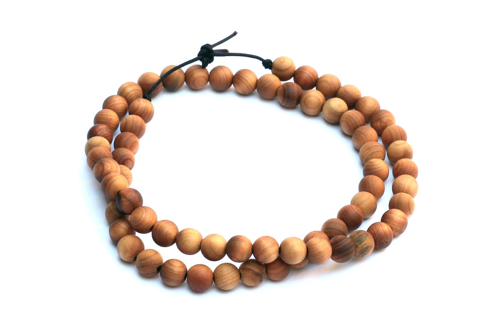 6mm Light Wood Beads (approx. 66 beads)