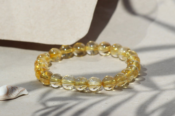 Kerrie Berrie Elasticated Genuine Real Citrine Bracelet
