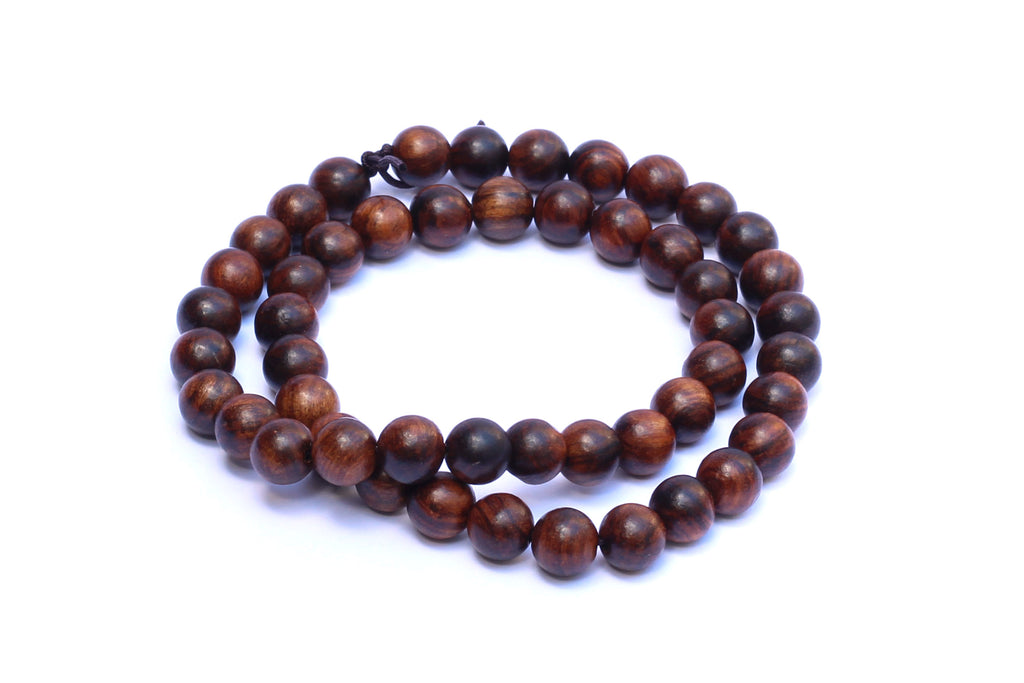 8mm Dark Wood Beads (approx. 50 beads)