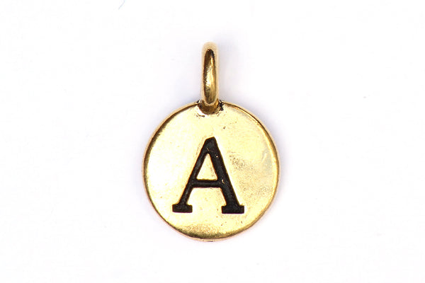 Kerrie Berrie Gold Plated Pewter Tierracast Initial Alphabet Lette Charm