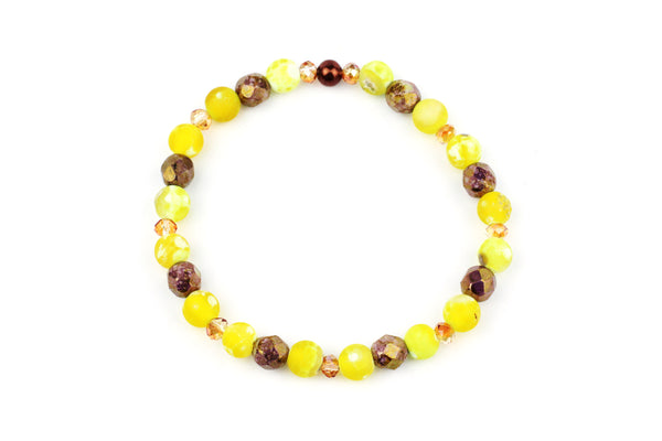 Handmade Beaded Yellow Bracelet