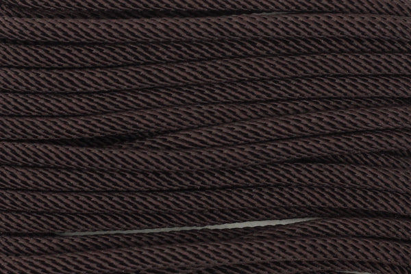 Cotton 'Rope' Cord in Dark Brown - 3mm (3 metres)
