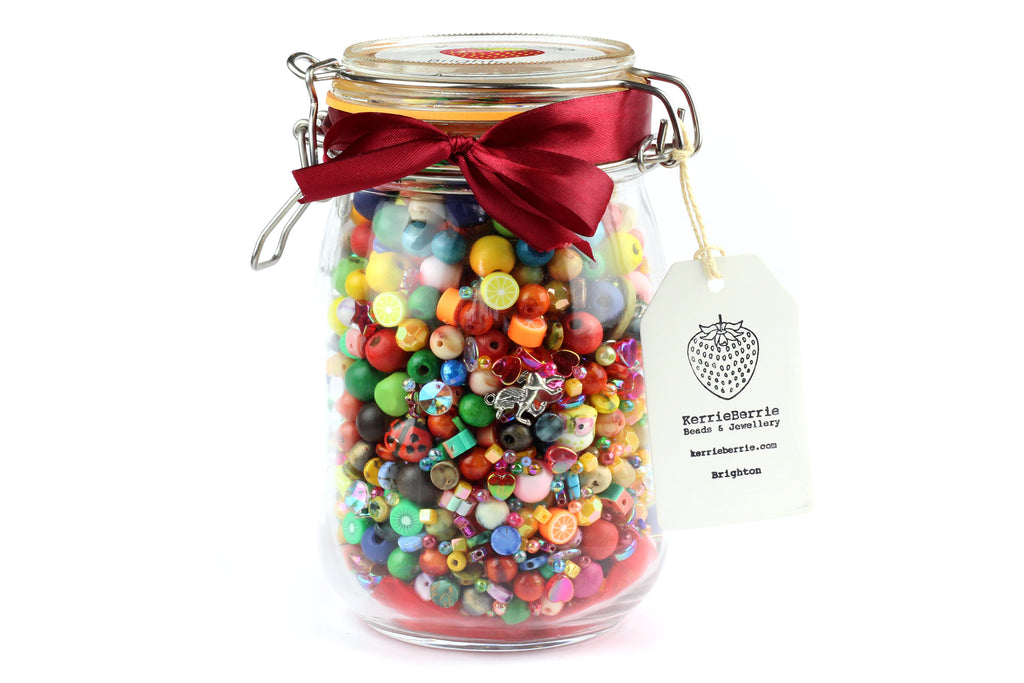Bead and Jewellery Making Kit in a Jar_Small Craft Gift and Stocking Filler