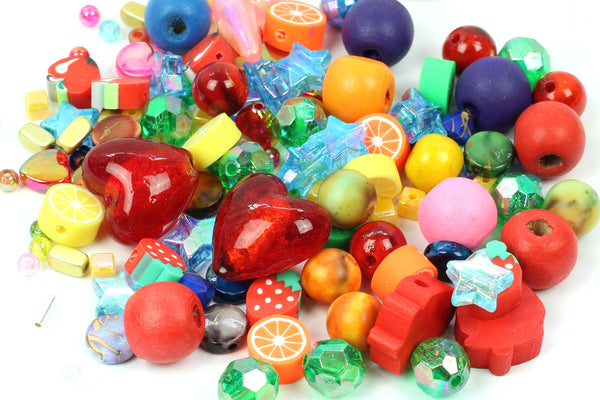Kerrieberrie mixed bag of brightly coloured beads