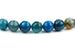 Kerrie Berrie UK Semi Precious Agate Bead Strands for Jewellery Making in Blue