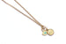 God's Eye and Coin Necklace - Gold Filled