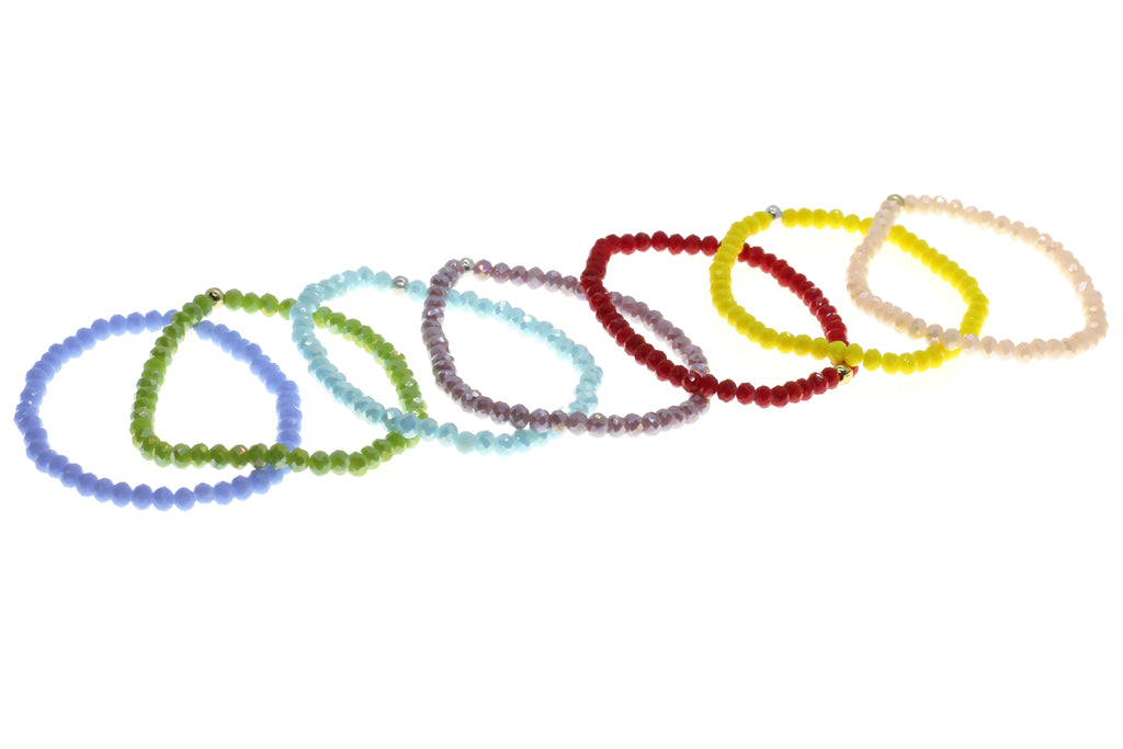 *30% OFF* Glass Beaded Elasticated Bracelet – Choice of 7 colours