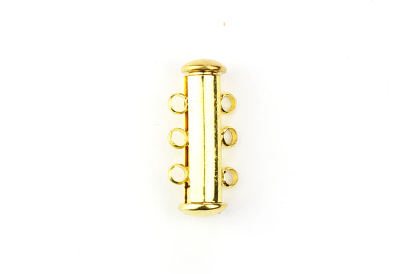Kerrie Berrie Gold Magnetic Splitter Clasp for Multi Strand Necklaces or Bracelets