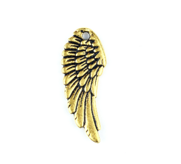 Gold-plated Angel Wing Charm