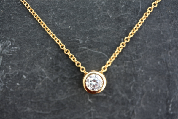 Kerrie Berrie Gold plated Cubic Zirconia Necklace