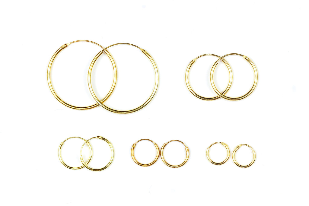 Gold Plated Hoop Earrings in a Variety of Sizes from Kerrie Berrie UK