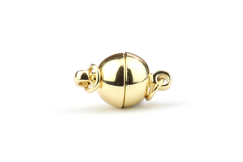 Kerrie Berrie Round Spherical Magnetic Clasp with Jump Rings for Jewellery Making