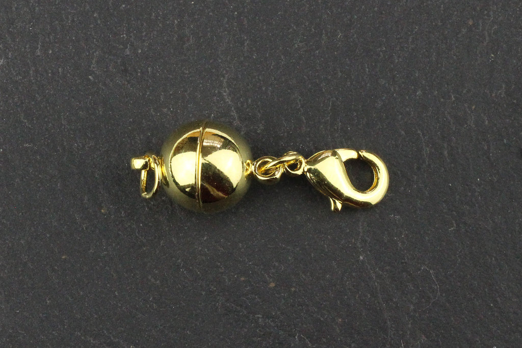 Kerrie Berrie Round Spherical Magnetic Clasp with Jump Rings and Lobster Clasp for Jewellery Making