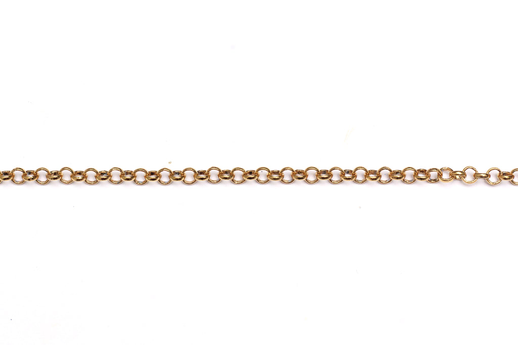4mm Round Link Chain - Gold (Tarnish Resistant)