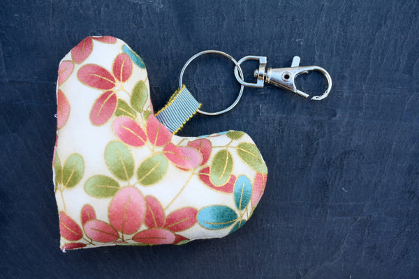 Handmade bag charms. Made from pretty Japanese fabric.