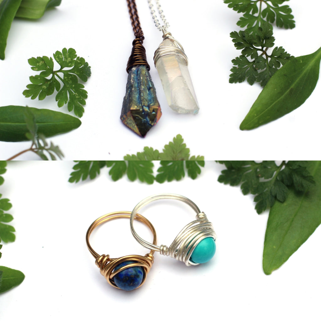 Thursday 26th march: Wire Wrapped Crystal Pendant and Ring Workshop