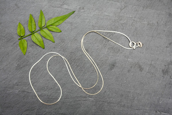 Simple Fine Sterling Silver Chain- 16inches