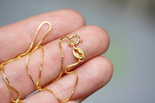 18 inch Simple Fine Gold Filled Chain