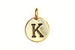 Kerrie Berrie Gold Plated Pewter Tierracast Initial Alphabet Letter Charm