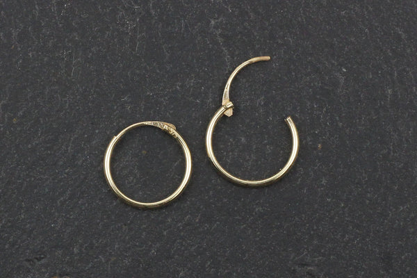 Real Gold Hoop Earrings – 11mm