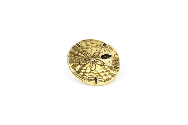 Antique Gold-plated Tierracast Sand Dollar Button – 17mm
