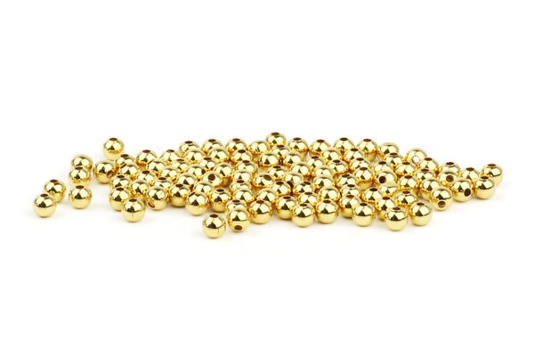 Gold Plated Spacer Beads – 2mm (100pcs)