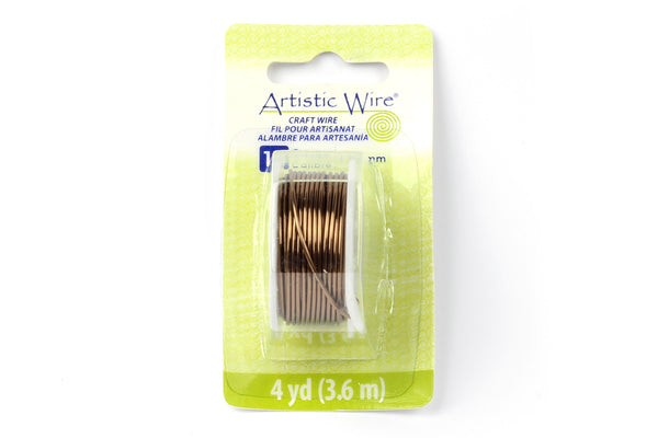 Kerrie Berrie Artistic Craft Wire for Jewellery Making in Antique Brass