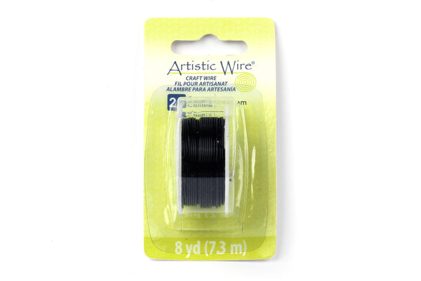 Kerrie Berrie Artistic Craft Wire for Jewellery Making in Black. Gauges available 18GA, 20GA, 22GA, and 26GA