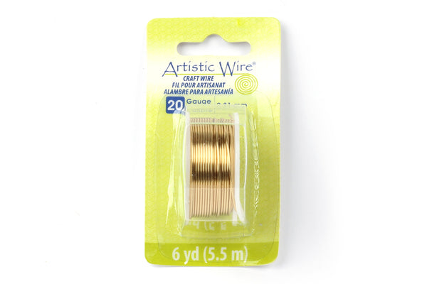 Kerrie Berrie Artistic Craft Wire for Jewellery Making in Gold. Gauges available 18GA, 20GA, 22GA, and 26GA