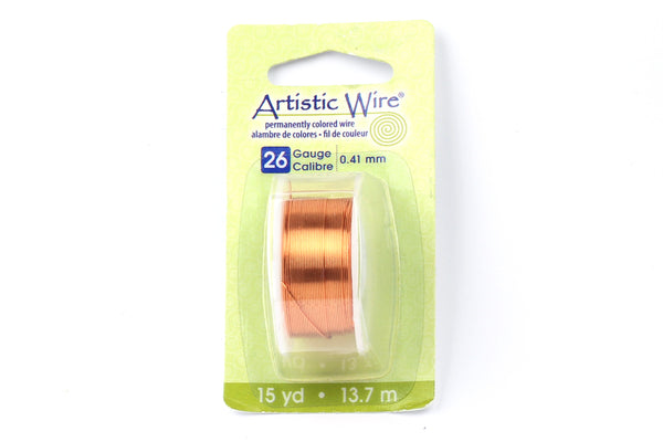 Kerrie Berrie Artistic Craft Wire for Jewellery Making in Natural Copper-look finish. Gauges available 18GA, 20GA, 22GA, and 26GA