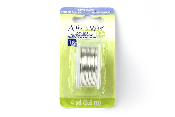 Kerrie Berrie Artistic Craft Wire for Jewellery Making in Silver. Gauges available 18GA, 20GA, 22GA, and 26GA