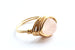 Rose Quartz and Gold Wire-wrapped Ring – October Birthstone