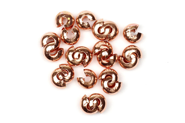 Kerrie Berrie Rose Gold 4mm Crimp Covers for Jewellery Making